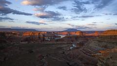 When shadows lengthen (Explored) (Jeff Mitton) Tags: sunset landscape utah sandstone scenic canyon lakepowell coloradoplateau glencanyonnationalrecreationarea wondersofnature navajomountain westernlandscape earthnaturelife alstompoint