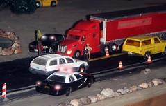 Busy weekend . 5/31/2016 (THE RANGE PRODUCTIONS) Tags: truck toy model semi greenlight 187 matchbox dioramas 18wheeler tractortrailer diecast trucksandstuff 164scale diecastdioramas