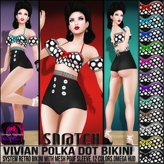 Sn@tch Vivian Polka Dot Bikinis Vendor Ad LG (Tess-Ivey Deschanel) Tags: life costumes sexy leather clothing model punk pants mesh sale events omega style clothes sl secondlife second pulse bodysuit pixels outfits pvc snatch specials ivey clubwear sntch rockattitude ihearts iveydeschanel tropicalsummer meshclothing omegasystem meshclothes darknesschamber