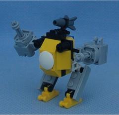 Bumblebee Blue (Mantis.King) Tags: lego scifi futuristic mecha wargames mech moc microscale legomecha mechaton mfz turdbot mf0 mobileframezero legogaming