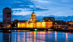Custom House (beelzebub2011) Tags: ireland dublin bluehour customhouse liffeyriver donovanrossabridge