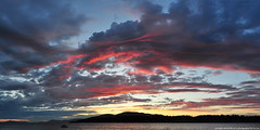 2016-06-20 Sunset (01) (2048x1024) (-jon) Tags: sunset red summer sky cloud water composite clouds boat tramonto sonnenuntergang solstice skagit pugetsound sanjuanislands anacortes washingtonstate stitched  puestadelsol skagitcounty coucherdusoleil   guemeschannel salishsea  fidalgoisland matahariterbenam    curtiswharf a266122photographyproduction