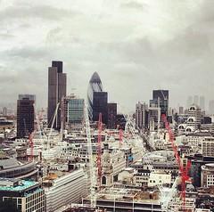 """Spires"" of London (backfirecptn) Tags: city england london square unitedkingdom crane spires united thecity kingdom cranes squareformat rise iphoneography instagramapp uploaded:by=instagram"