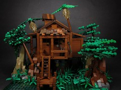 Tia Dalma's Shack (Front View) (Walter Benson) Tags: trees house tree water forest boats lego pirates parrot scene disney growth bayou cotton swamp caribbean shack johnnydepp walt diorama piratesofthecaribbean 2012 davyjones jacksparrow waltdisneypictures deadmanschest tiadalma jarofdirt bignette joshameegibbs
