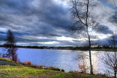 Pennington Flash Sky (Shertila Tony) Tags: england sky cloud water weather europe day cloudy britain lancashire leigh hdr pennington 100commentgroup flickraward mygearandme flickrstruereflection1
