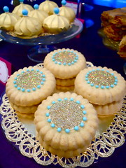 Jasmine Birthday (OhSugarEvents) Tags: birthday party cookies cake gold purple teal jasmine aladdin dessertbuffet arabiannights desserttable