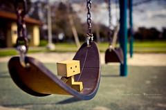 365:249 - May I Have a Push Please? (Starnerd) Tags: children toy nikon bokeh swings help question nikkor danbo project365 da