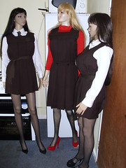gymslip girls 027 (gymslip-connoiseur) Tags: school girl uniform gymslips gymslipgirls browngymslips