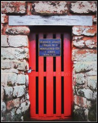 red door to the past (silwittmann) Tags: door red history colors wall puerta stones porta paraguay itapua