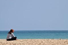 27 (Jreuta) Tags: blue vacation beach portugal strand sand urlaub relaxing thinking meditation algarve blau ruhe nachdenken