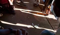 sidewalk dice game he rolls a 6 (jimbob_pgh) Tags: dice game men beer southafrica goodtime mamelodi