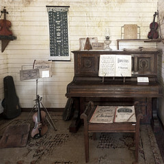 Let the Music Play (Perfectoarts) Tags: squareformat australianimages vintageimage texturework ingriddouglasphotography herbertonhistoricalvillage
