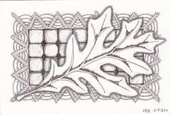 11.13.11._0010 (val71655) Tags: autumn leaf oak zia zentangle