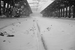 Train station: The train is gone. (Go 4 IT) Tags: blackandwhite color photography nikon outdoor creative trainstation amateur d3100 evghenitirulnic