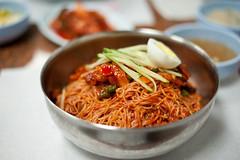 DSC_9890 (KayOne73) Tags: red food lens ma pepper prime restaurant la los nikon angeles g paste korea eat korean f dang noodles spicy mm nikkor 18 50 afs koreatown gook bibim myun naeng d700