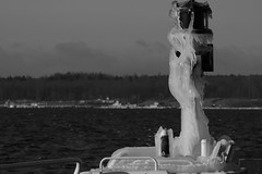 Bejeweled, winter coating (J. Roseen) Tags: winter blackandwhite sunlight ice canon season eos is photo vinter foto seasons sweden norden skandinavien perspective picture nordic lantern scandinavia vttern visings rstider lakevttern solljus ef70210mmf4 rstid wintercanon ef70210mmf4macro ef70210mm4f