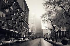 Portage Avenue (bryanscott) Tags: winter building fog downtown winnipeg manitoba architectue