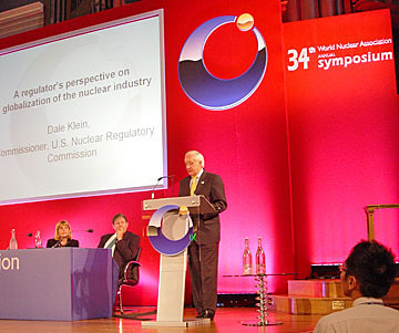 NRC Commissioner Klein Delivers Speech at the 34th Annual Meeting of the World Nuclear Association in London, England