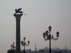 St Mark's Square, Venice (ncs1984) Tags: venice red italy statue italia streetlights lion piazza winged venezia wingedlion