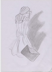 innocence (Irina Bolohan) Tags: paris france cute beautiful fashion dress drawing chic runaway ira bolohan