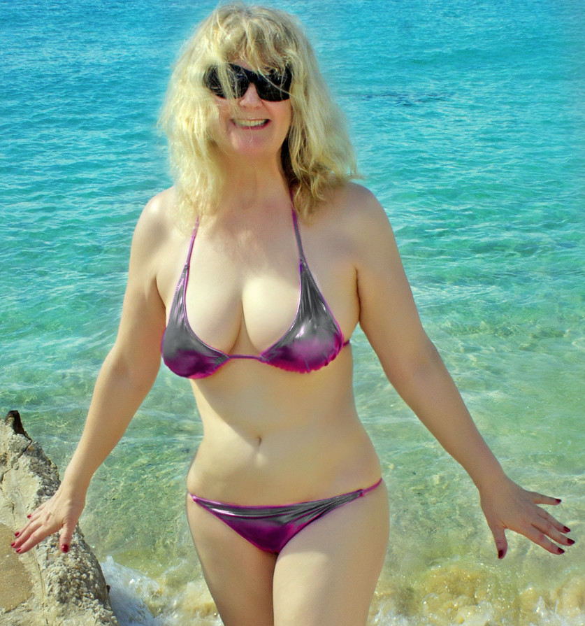 Bbw bikini granny