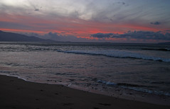 stormy morning (bluewavechris) Tags: ocean sea sky sun mountain beach water colors clouds sunrise island volcano hawaii sand scenic maui swell halelakela
