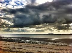 Cloud of Grey (fradgepick) Tags: sea sky water coast hampshire ha southampton hdr hamble fawley snapseed
