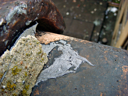Weathered Asbestos Roofing Mastic