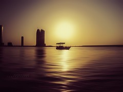 Sharjah Sunset (MOSTAFA HAMAD | PHOTOGRAPHY) Tags: pictures camera blue trees sunset sea sky sun mountains color tree nature water clouds sunrise canon landscape photography is meer wasser day fotografie photographie sonnenuntergang natur 110 himmel wolken berge ixus fotografia landschaft sonne bume sonnenaufgang hamad baum sharjah  mostafa fotografa fotografering            fotoraflk            mostafahamad