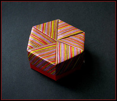 Hexagon Box C (rebecccaravelry) Tags: origami box container fuse tomokofuse