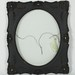 284. Black Gesso Carved Frame