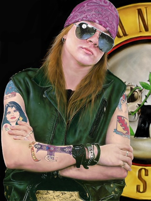 AXL ROSE completed ipad painting