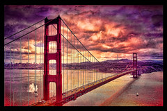 Golden Gate Bridge [Photoshop fun!] (SergeK ) Tags: sanfrancisco california county bridge usa photoshop golden bay gate san symbol photoshopped marin peninsula photoshoped ps5 recognized sergek