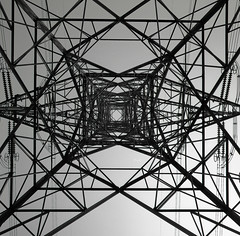 Under High voltage tower (GMilo) Tags: mamiya fuji neopan 100 acros 6mf