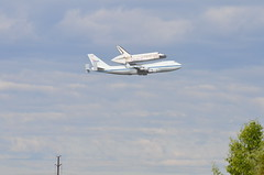 T-38 tucked in (look closely) (Keith Jake) Tags: airplane virginia smithsonian dc airport dulles nikon space police nasa herndon spaceshuttle boeing747 747 dullesairport t38 udvarhazy shuttlediscovery d7000 nasa905