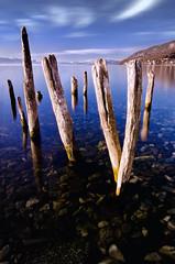 Lines (Rilind Hoxha) Tags: blue mountain lake different serenity deepbluesky longexpo calmlake ohridlake 10stops nd10 calmscene daytimelongexpo longexposureintheday nationalparkmaceonia ohridlakephotography