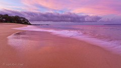 Jekyll and Hyde Sky (Eric.Vogt) Tags: longexposure travel pink beach sunrise hawaii sand waves purple pacific maui bigbeach mekena