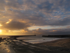 Bathed in the morning sun. (paul downing) Tags: lighthouse docks canon harbour northsea seaham sunrisespring pdp northeastengland coastaluk pd1001 pauldowning