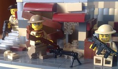 Counter attack at Arras,21 May,1940. (-Aldin.) Tags: world two brick war lego arm brodie helmet soldiers british thompson weapons smle brickarms m1a1smg leeeinfield