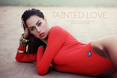 Tainted Love. (A U D E) Tags: anna love beauty fashion vintage skinny rebel mac tank cristina models makeup rusty style retro indie editorial tainted bodysuit deviantart aude versace rayban mouvement topshop greentable lookbook rosado prims