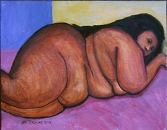 BBW - Lazy Day (jeffsterling53) Tags: original black sexy art ass beauty yellow sex lady female painting bed mujer breasts arms legs fat femme bbw mulher butt arse young erotica sensual thighs booty anatomy impressionism culo cama heavy weight plump thick phat obese dominatrix fesse derriere blubber redbone cellulite nalgas ssbbw