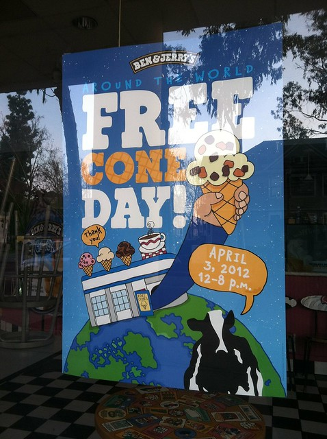 FREE CONE DAY Ben & Jerrys