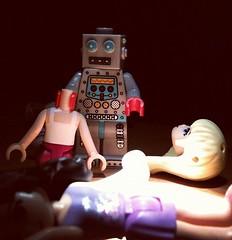 Robot Rampage! (Amy Cringeneck) Tags: square toys robot lego creepy spooky squareformat hudson iphoneography instagram instagramapp uploaded:by=instagram legofriends amycringeneck