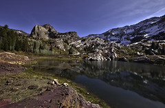 Lake Blanche (Aga La Magica) Tags: autumn lake snow mountains color fall nature water landscape utah rocks