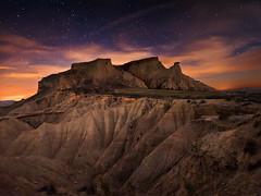 Piskerra (Bardenas.Navarra) (martin zalba) Tags: night stars landscape star noche paisaje estrellas estrella navarra bardenas piskerra magicalskies
