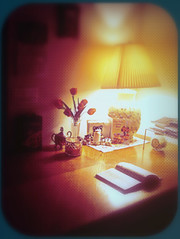 Home. (Violette79) Tags: light kitchen lamp table reading book evening cozy soft tea teatime