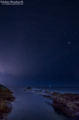 Night on the Marginal Way (Adam Woodworth) Tags: ocean longexposure night stars maine newengland atlantic ogunquit marginalway