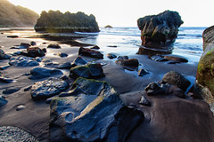 Los Patos (minuano12) Tags: espaa mar agua playa arena roca orilla islascanarias laorotava lospatos 0052