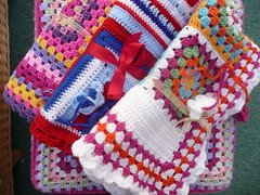 Fiona (Netherlands) very kindly made and donated these blankets to SIBOL. (MRS TWINS/SIBOL 'Sunshine International Blankets) Tags: squares elderly blankets sibol