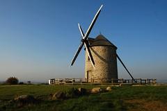 Windmill Moidrey near  Mont saint Michel (yvon Merlier) Tags: flowers sea sky mountain love nature landscape soe platinumphoto